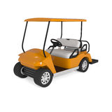 Orange Golf Cart Car  on white Royalty Free Stock Photos