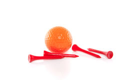 An orange golfball Royalty Free Stock Photos