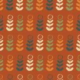 Orange grön blå röd för repetitionmodell för blom- växt grafisk sömlös design stock illustrationer