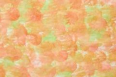 Orange Grün gespritzte Zusammenfassung Lizenzfreies Stockfoto