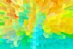 orange, grüne und gelbe der Töne 3D Verdrängung I der Sommerabstraktion Stockbild