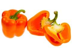 Orange Grüner Pfeffer Stockfoto