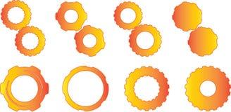 Orange Gradient Gears Stock Photos