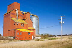 Orange Grain Elevator Stock Photography