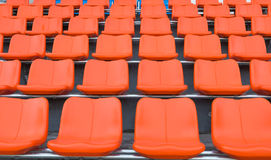 Orange grandstand chairs Royalty Free Stock Images