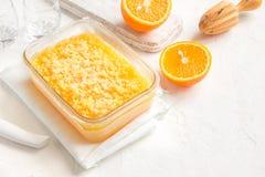 Orange Granita Stock Photo