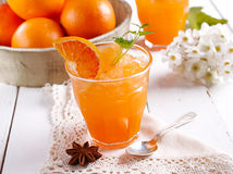 Orange granita in Sicily Stock Images