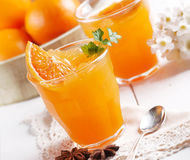 Orange granita in Sicily Stock Photos
