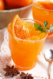 Orange granita in Sicily Stock Photography