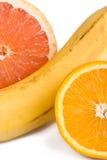 Orange, grapefruit and banana Stock Image
