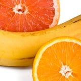 Orange, grapefruit and banana Royalty Free Stock Images