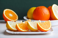 Orange and grapefruit citrus fruit Stock Photo