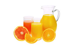 Orange and grapefruit juice Royalty Free Stock Photo