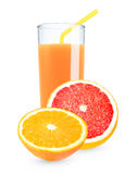 Orange - Grapefruit juice Royalty Free Stock Photos