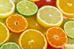 Orange,grapefruit and lemon Stock Photo