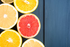 Orange, Grapefruit And Lemon Citrus Fruit Slices Royalty Free Stock Image