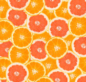 Orange and grapefruit peaces Royalty Free Stock Images