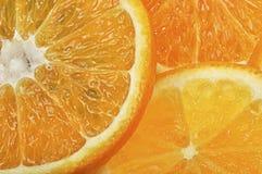 Orange and grapefruit slices Stock Photography