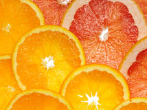 Orange and grapefruit Stock Photos