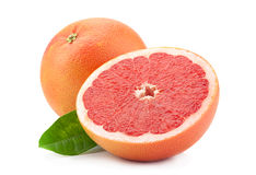 Orange grapefruit on white Royalty Free Stock Images
