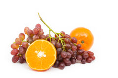 Orange and grapes Royalty Free Stock Images