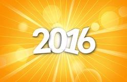 2016 orange. Graphic illustration design vector illustration