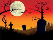 Orange Graveyard Royalty Free Stock Photo