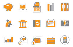 Orange and gray icon set Royalty Free Stock Photography