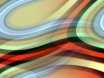Orange gray red blue fluid lines background, abstract colorful geometries. Abstract blue orange green beige sparkling blurred sparkling fluid lines, lights stock illustration