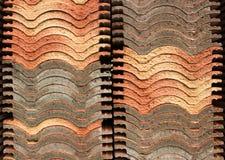 Orange gray roof tile background Stock Image