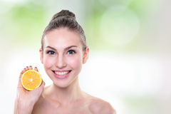 Orange is great for health Royalty Free Stock Photography