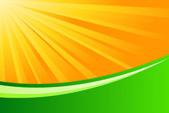 Orange and Green Stock Photo