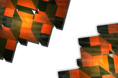 orange and green arrows, abstract background Stock Photo