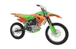 Orange Green Bike Stock Image
