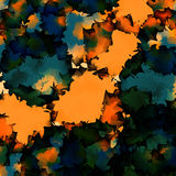 Orange green blue watercolor texture background. Lovely abstract orange green blue watercolor texture pattern. Expressive messy vector illustration Stock Image