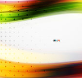 Orange and green blurred line background Stock Photo
