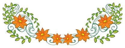 An orange and green border Stock Photo