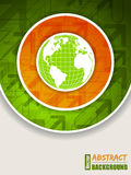 Orange green brochure with globe Stock Image
