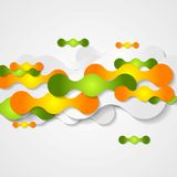 Orange and green circles shapes background Stock Photo