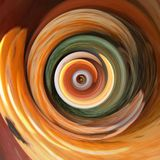 Orange and green. Color photo of swirling, vortex like background royalty free stock images