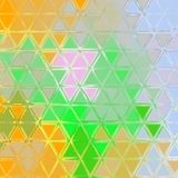 Small orange and green colored triangles continuous pattern. Orange and green colored triangles continuous pattern stock illustration