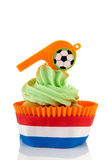 Orange and green cupcake Royalty Free Stock Photos