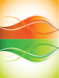 Orange and green curves background Royalty Free Stock Images