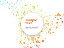 Orange green dotted background with sample text. Modern style Royalty Free Stock Images