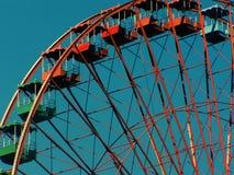 Orange and Green Ferris Wheel Royalty Free Stock Photo