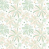 Indian Independence Day Fireworks Seamless Pattern stock illustration
