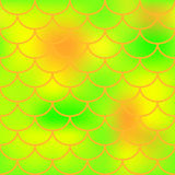 Orange green fish skin  pattern for background. Bright fish scale seamless pattern. Gradient mesh background with fishscale ornament. Vibrant yellow green Royalty Free Stock Photography