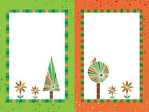 Orange and green frames Royalty Free Stock Photo