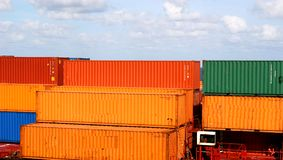 Orange and Green Freight Royalty Free Stock Photo