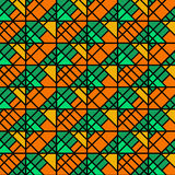 Orange and Green Geometric Pattern Stock Image